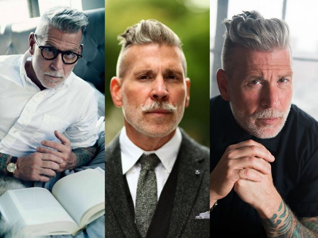 grijze haren mannen kapsel inspiratie