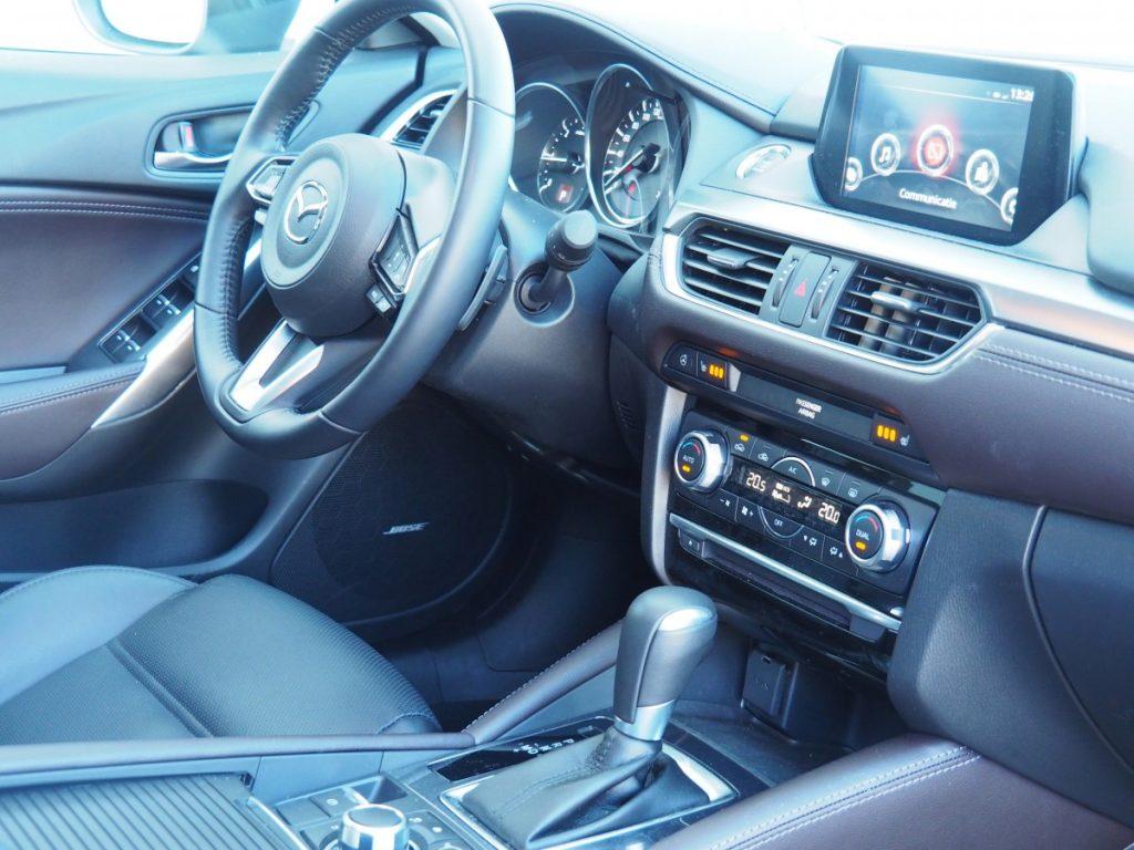 Interieur van de Mazda 6 sportbreak