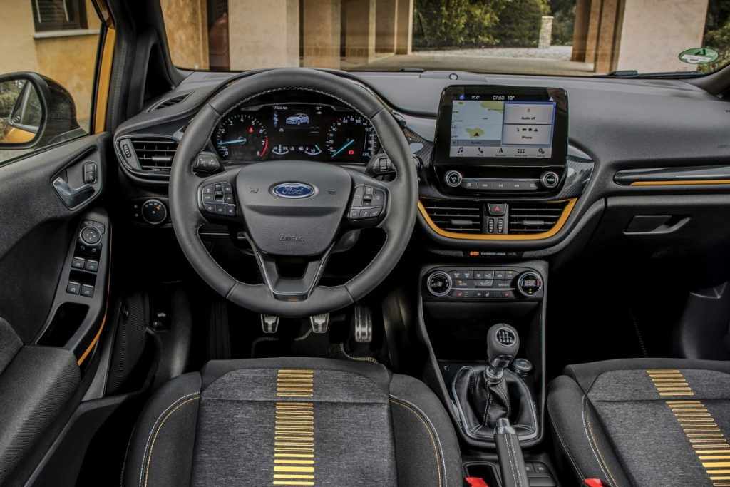 cockpit van de Ford Fiesta Active