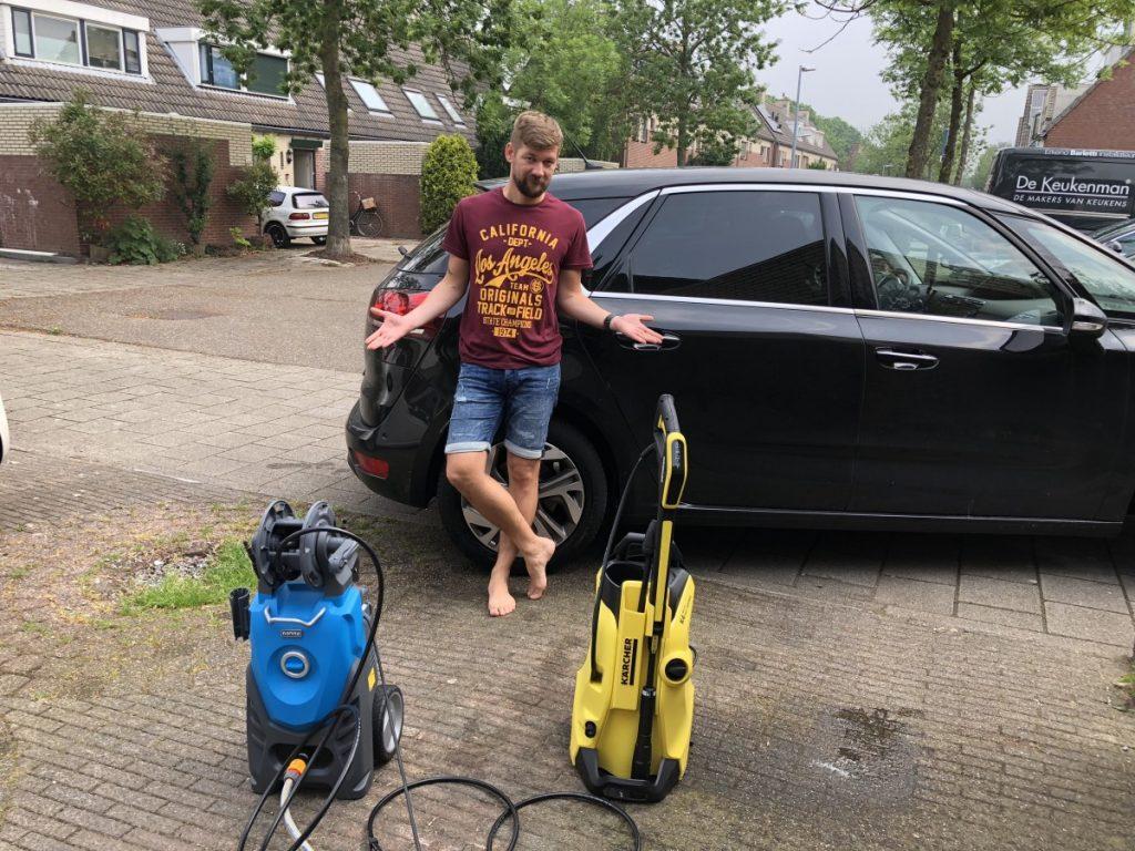 Vergelijk Karcher K4 Premium Full Control Home en de Gamma Hogedrukreiniger auto wassen.