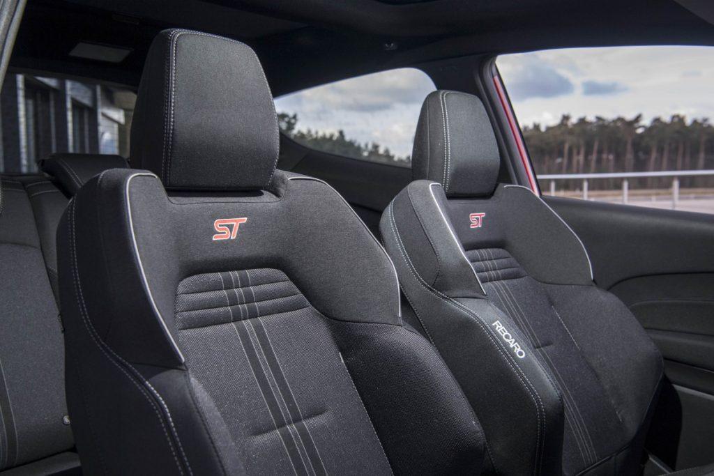 Sportstoelen van de Ford Fiesta ST