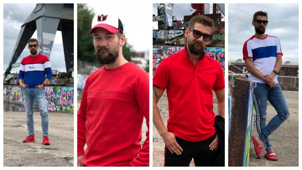 Najaar 2018 is voor de kleur rood! Zo kan ook jij rood dragen. Outfit 1: Broek en Trui van Sting. Outfit 2: Trui van de Shoeby. Outfit 3: Joggingpak en Polo van Shoeby. Outfit 4: Jeans en Shirt van Sting en Slippers van The North Fase.
