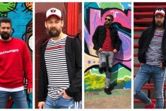 Toffe outfits van B4men over de kleur van de mode najaar 2018 Rood