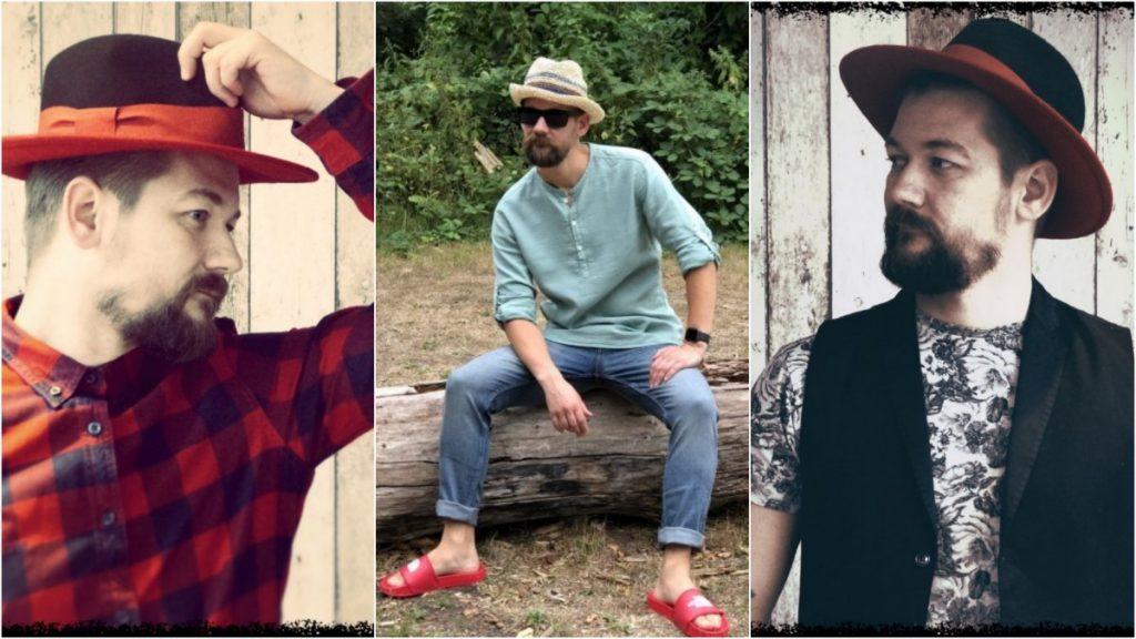 Jan Willem Huffmeijer van B4men met verschillende outfits met hoeden