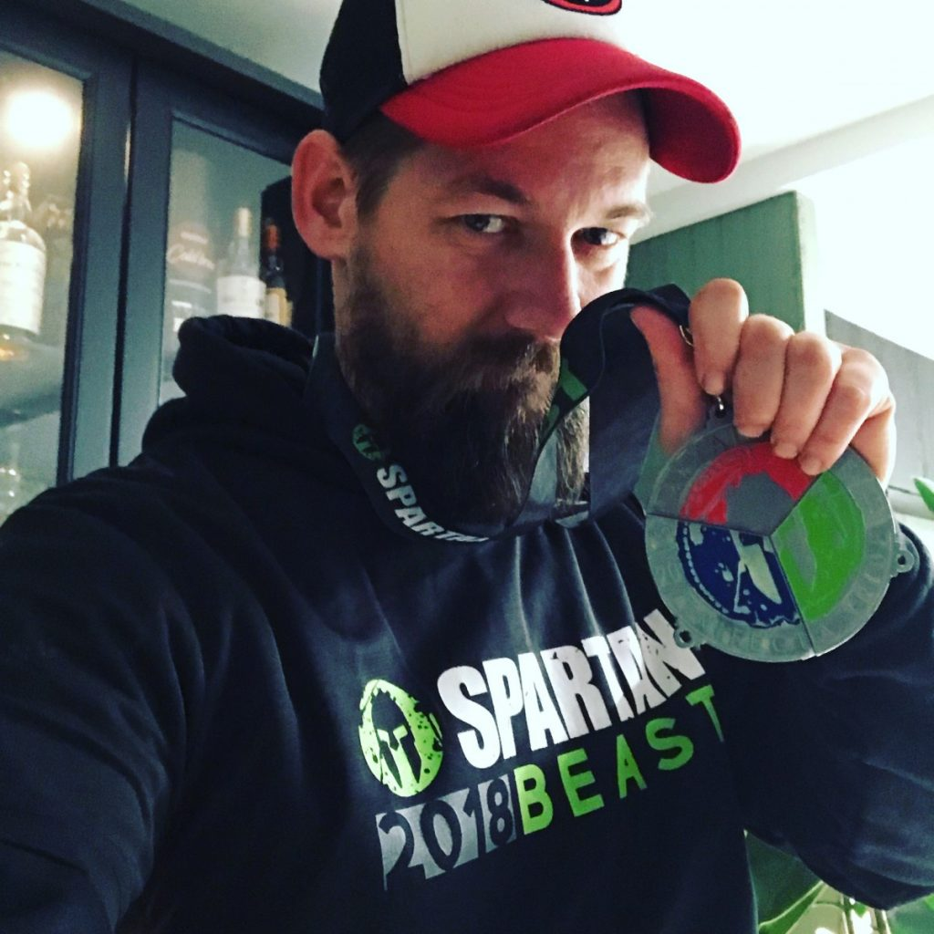 Jan Willem Huffmeijer Spartan Trifecta Medaille