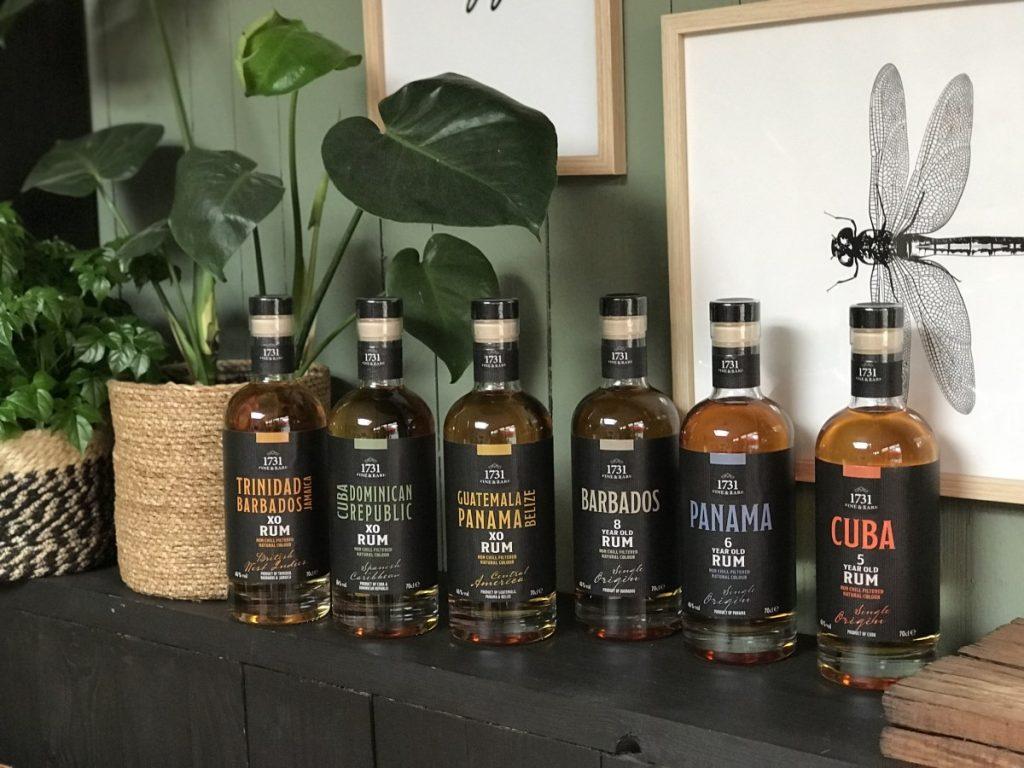 1731 Fine and Rare Rum bestaat uit een collectie van 6 rums
