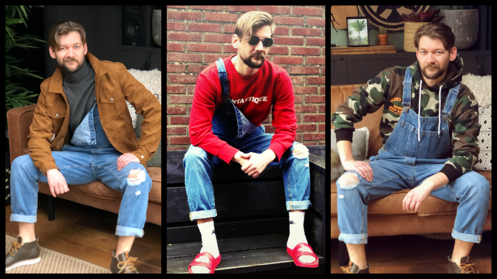 Drie manieren om je tuinbroek / jumpsuit / overall te dragen