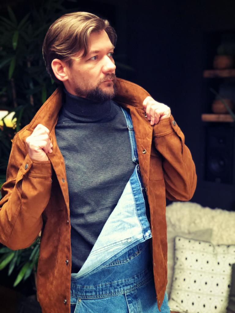 toffe foto van Jan Willem met een tuinbroek