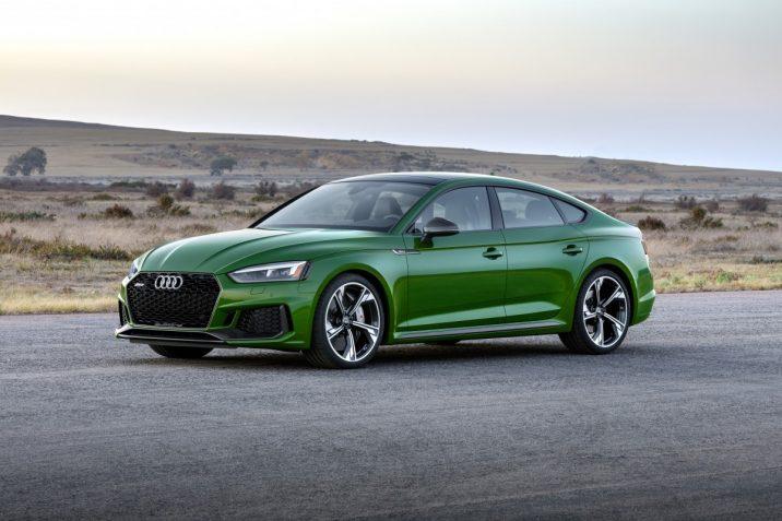 Mooie groene Audi RS 5