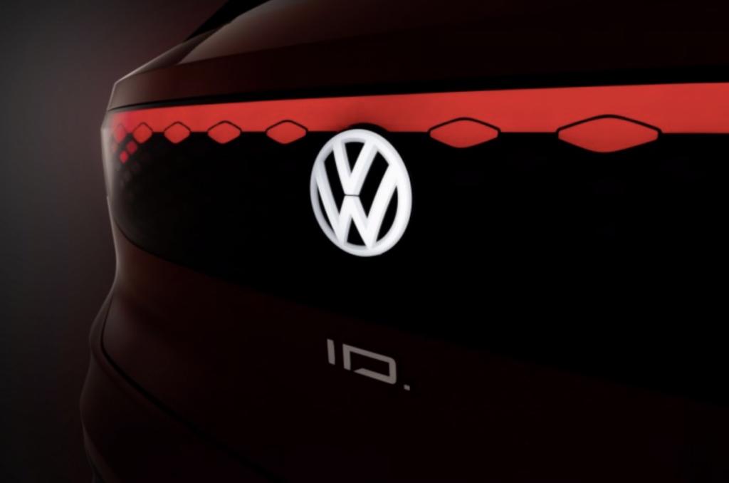 Het ID. Logo van de nieuwe lijn van Volkswagen