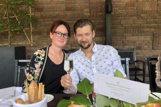 Jan Willem en Marie Louise bij Roberto's Amsterdam