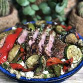 Couscous met gegrilde groenten en Lamskoteletten