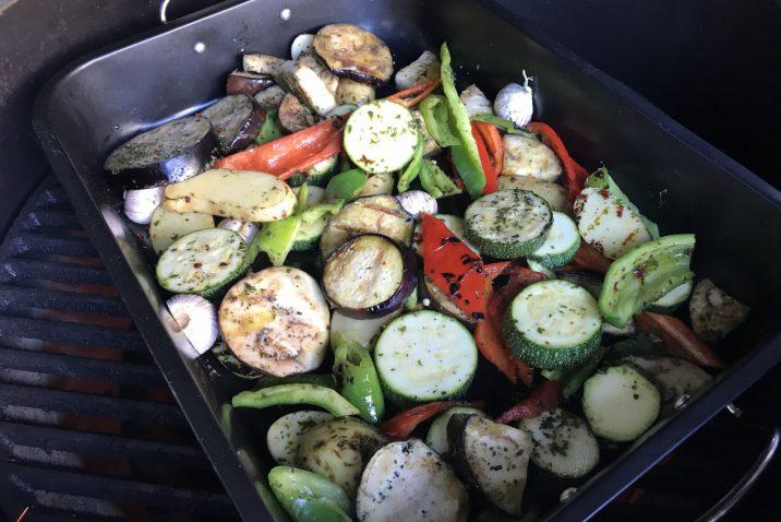 Gegrilde groenten van de Big Green Egg