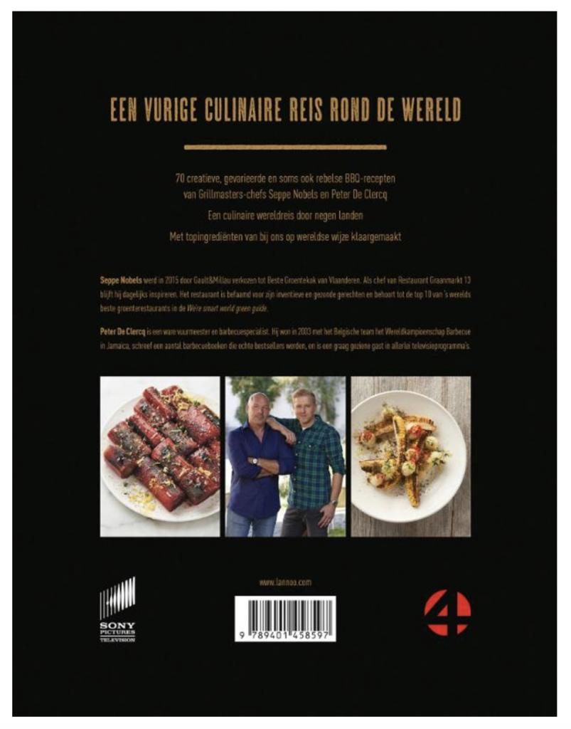 De achterkant van het bbq boek grillmastres
