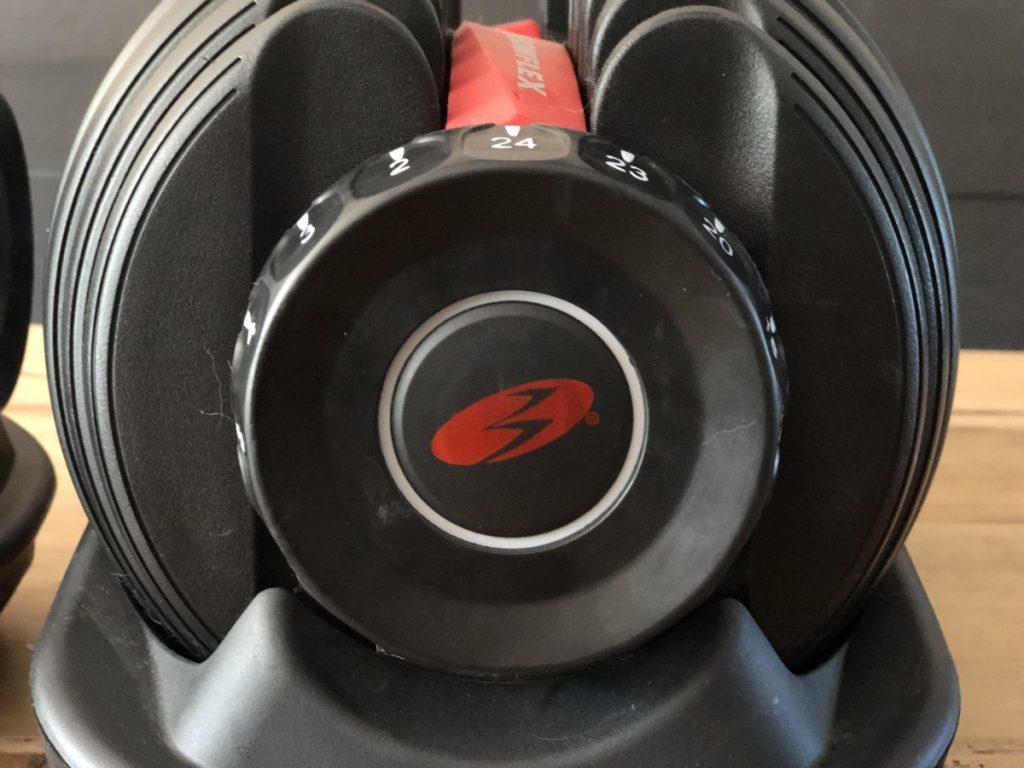 Detailfoto van de halsters Bowflex SelectTech 552