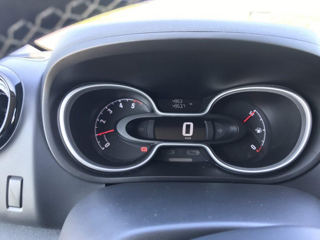 Dashboard van de Opel Vivaro