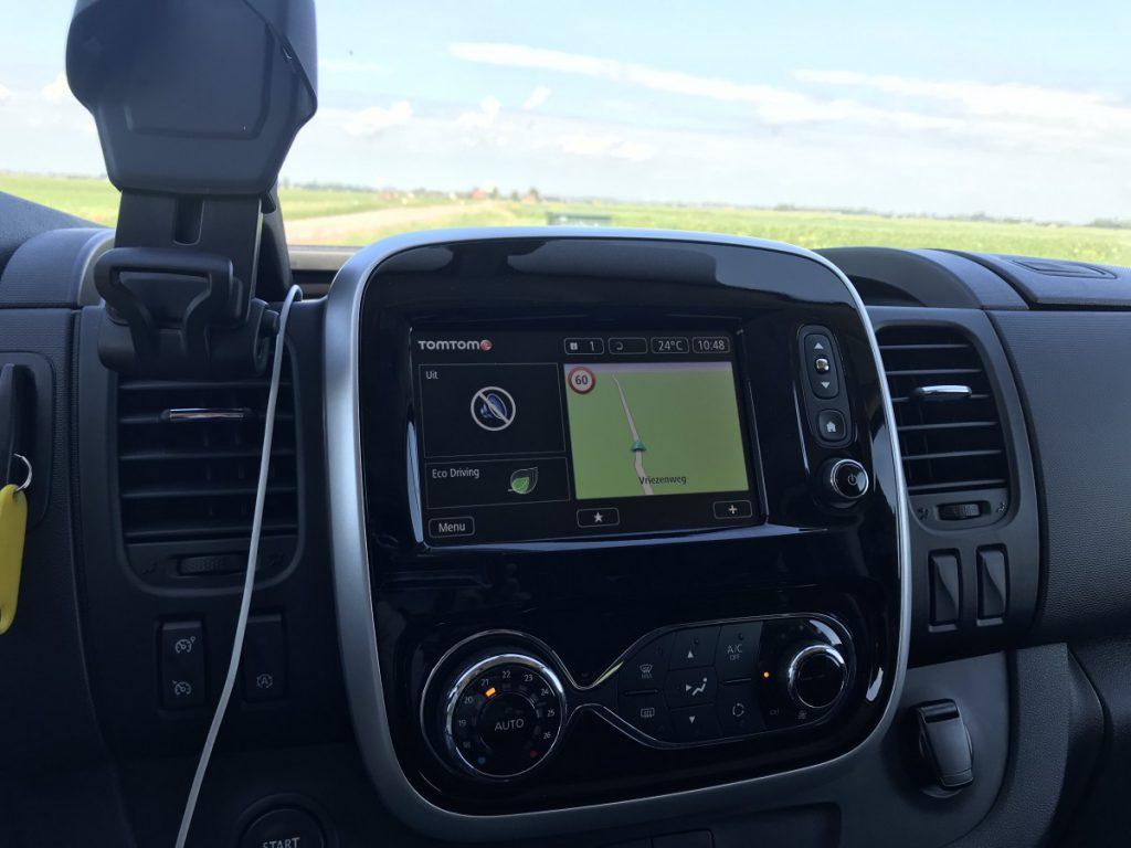 Het navigatiescherm in de Vivaro GT