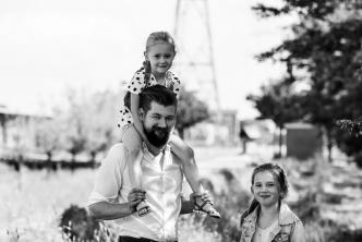Jan Willem met dochters