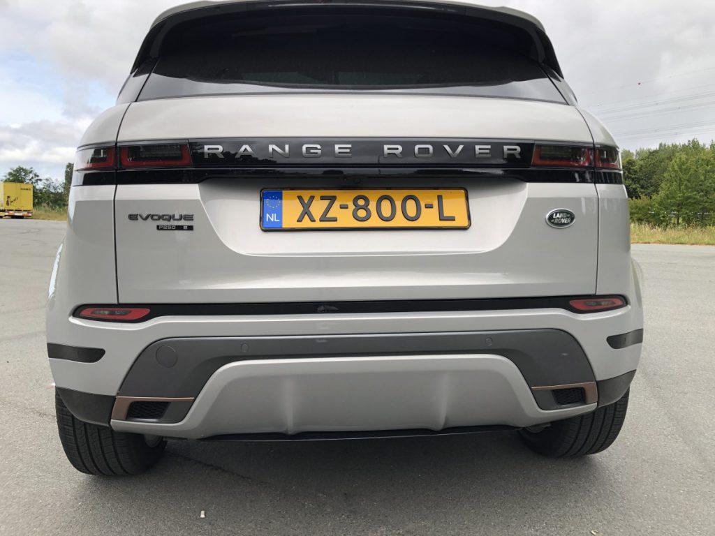 De nieuwe Range Rover Evogue Achterkant