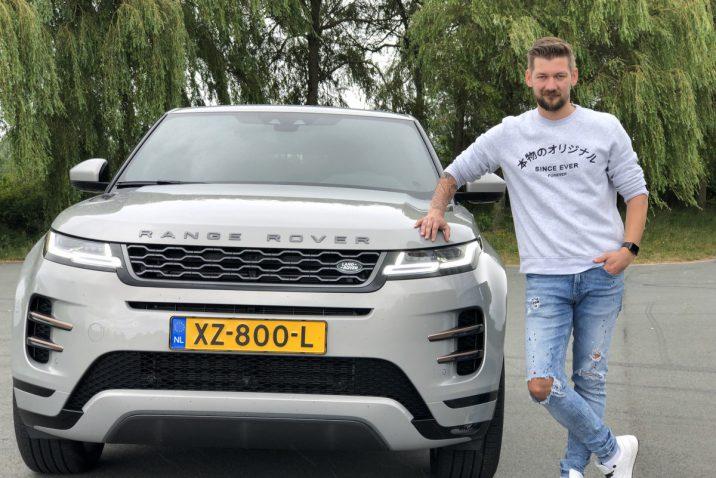 Jan Willem Huffmeijer met de nieuwe Range Rover Evoque