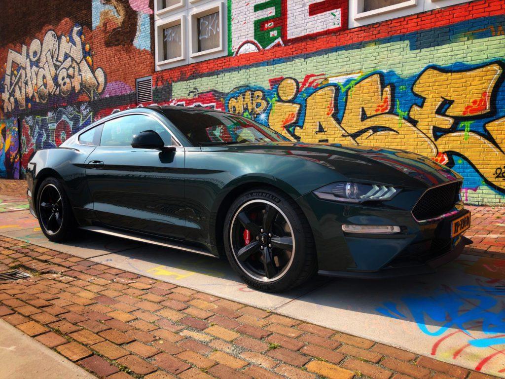 Een toffe foto van de Ford Mustang Bullit