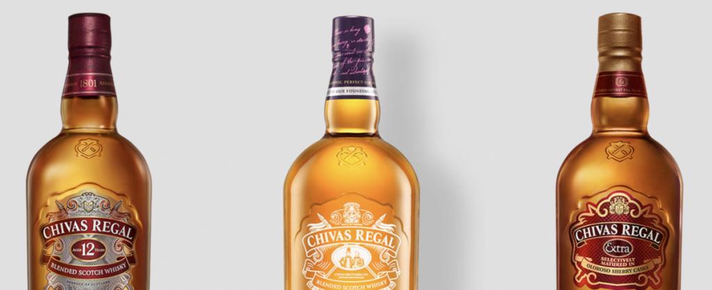 Collectie van Chivas Regal