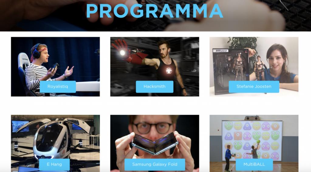 Het programma van het Techfestival van Nederland