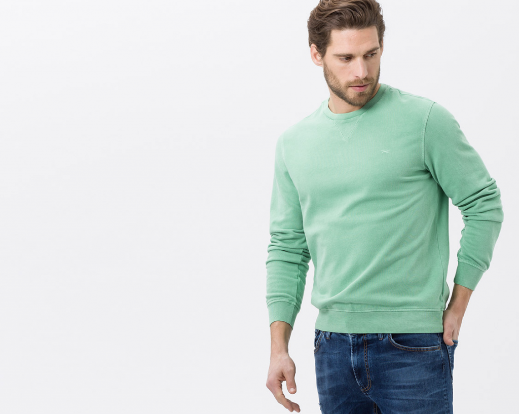 Een groene trui van bram herenkleding
