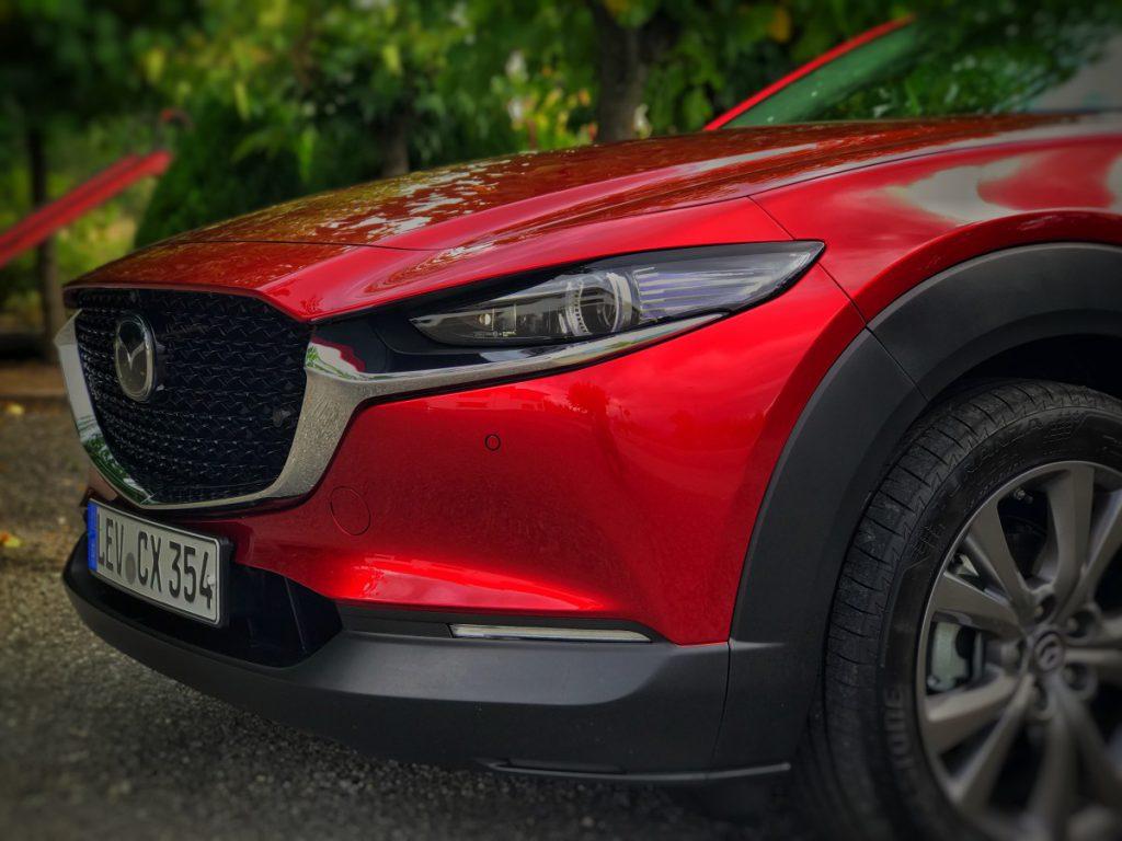 De neus van de Mazda