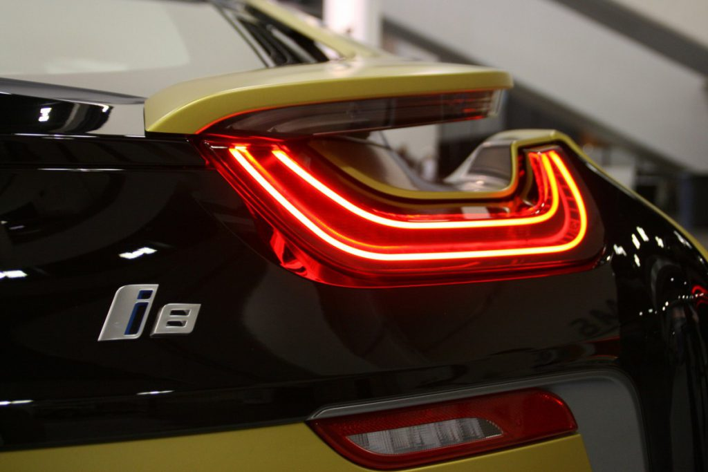 De BMW I8 elektrische auto