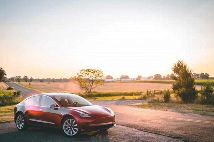 De Tesla model 3 elektrische auto
