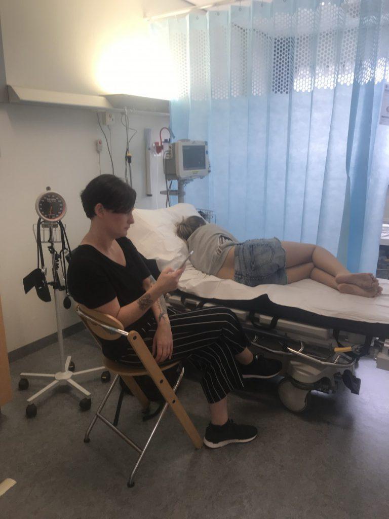 En toen lagen we in het ziekenhuis
