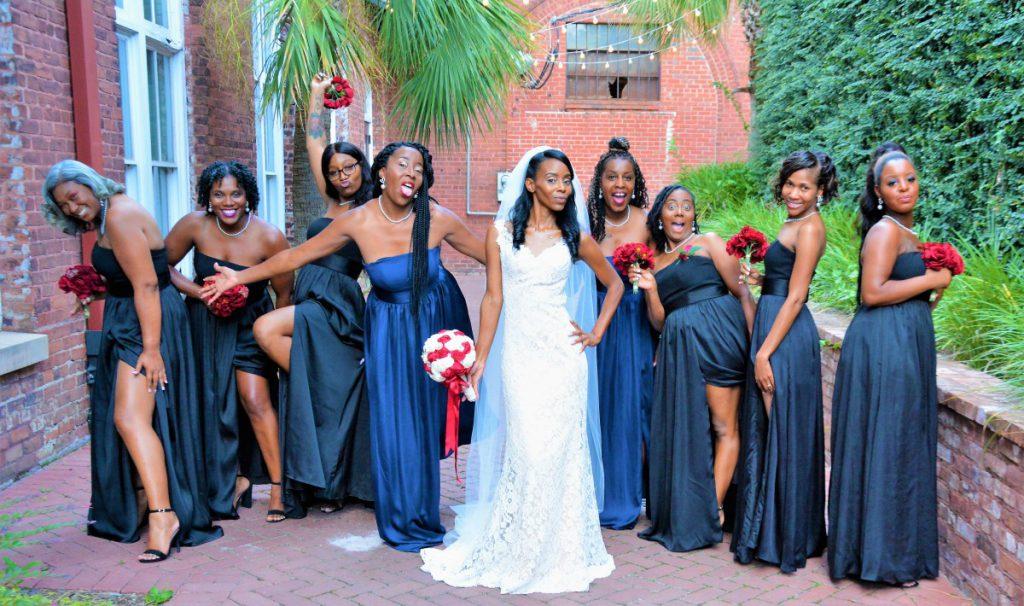 alle bruiden en bruidsmeisjes