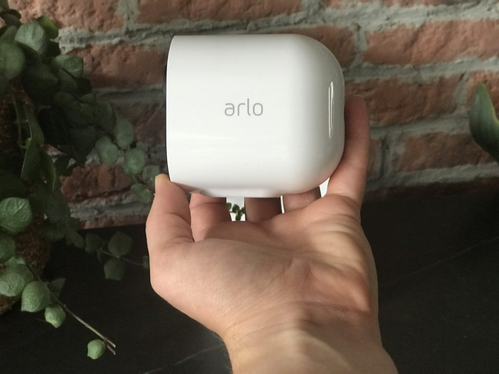 Arlo camera in hand