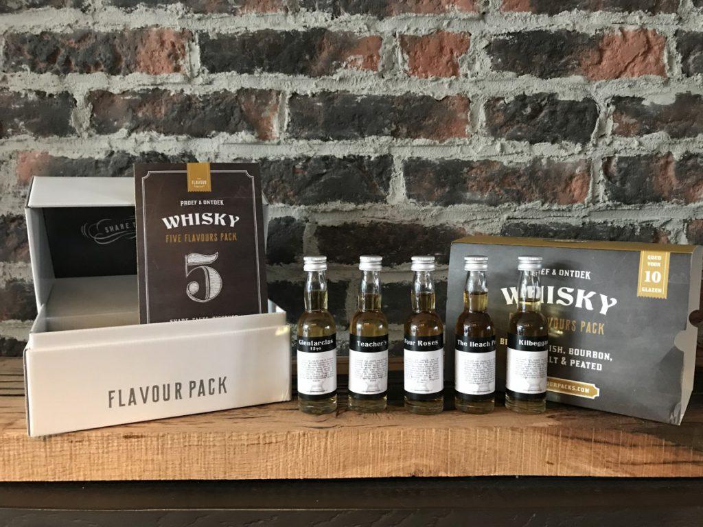 Een thuisproeverij als cadeau met verschillende whisky