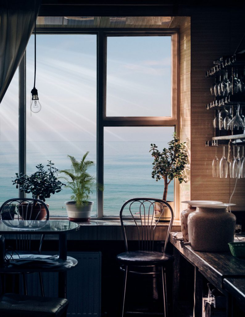 Een mooi uitzicht is altijd lekker voor een mooie zitplek