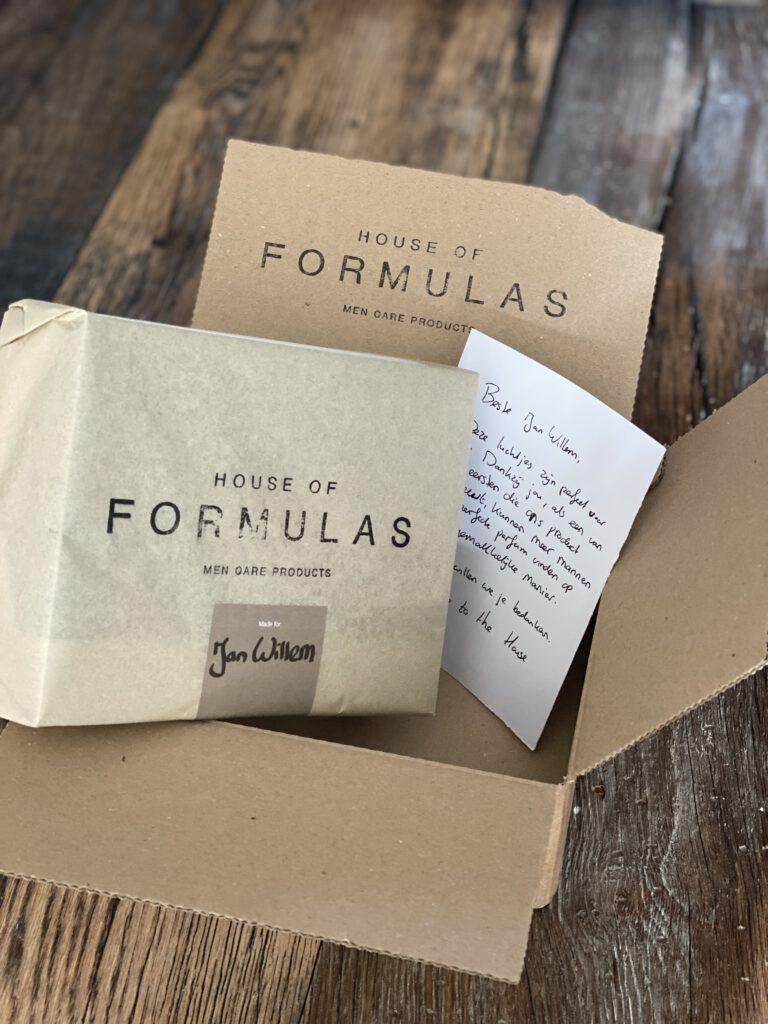House of Formulas komt als een cadeautje bij je thuis